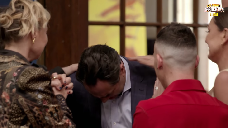 Celebrity Apprentice star and Nova 96.9 radio host Michael 'Wippa' Wipfli is emotional after winning episode one's charity auction