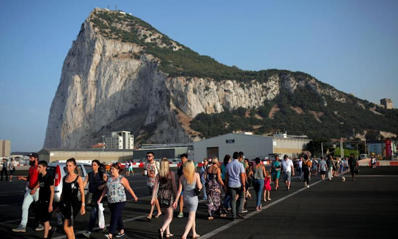 People must cross the runway at Gibraltar International airport to enter and leave the territory.