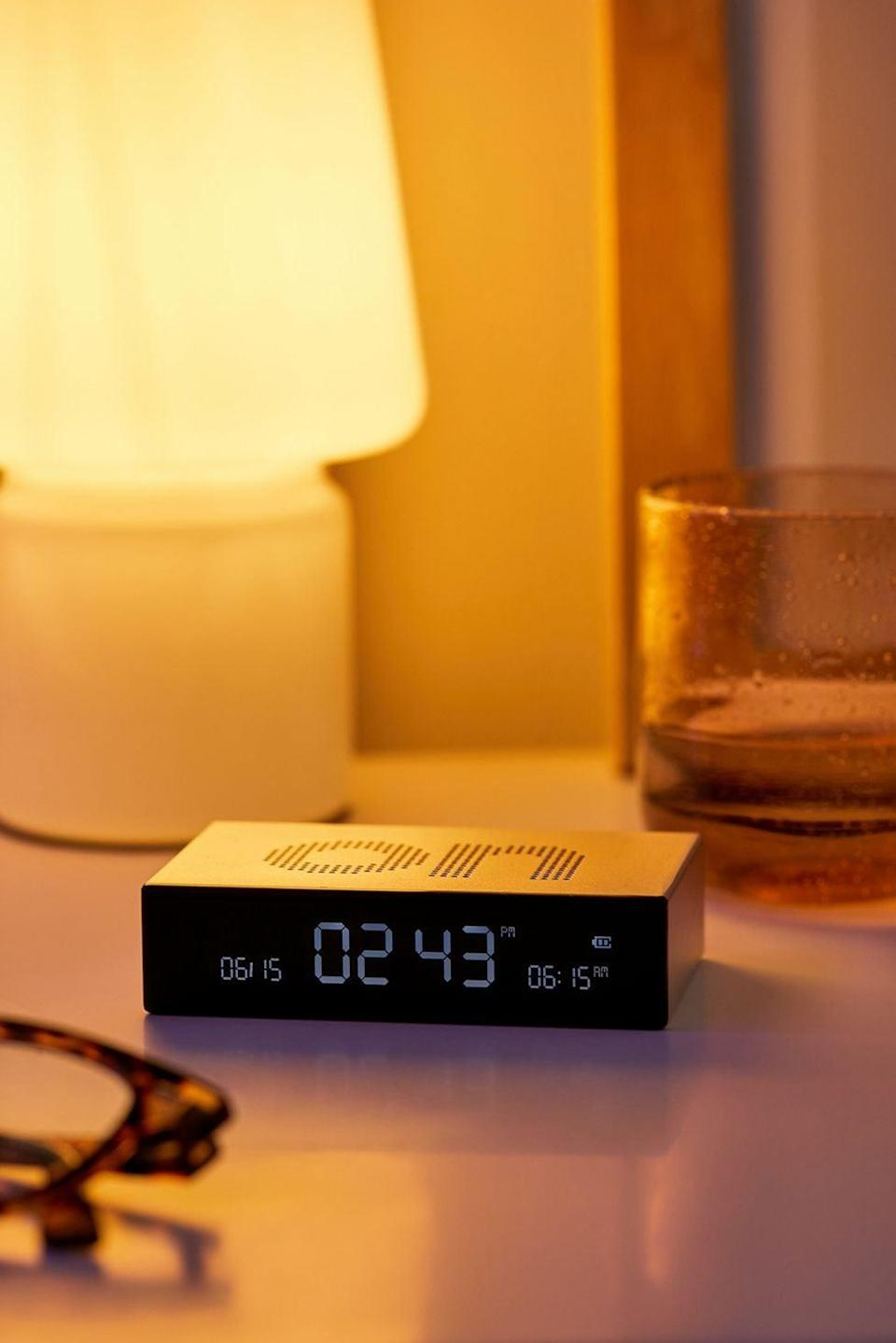 <p>This <span>Lexon Flip Premium Alarm Clock</span> ($50) makes for a funny gift for the person who always sleeps in. You flip it over to turn it on and off.</p>