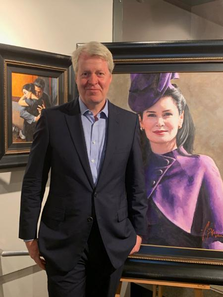 charles spencer reveals portrait of wife