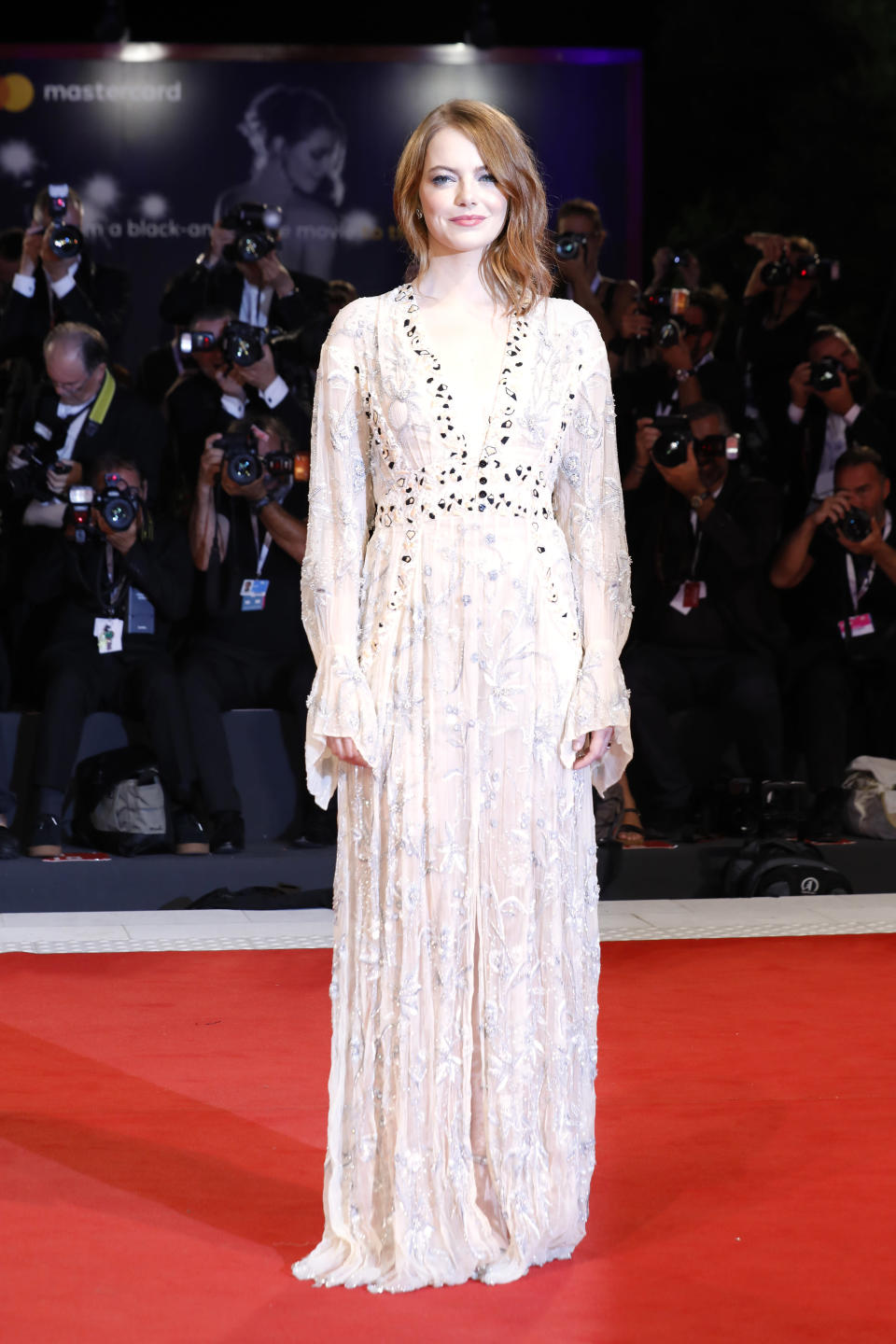 <p>Wearing a catwalk-fresh Louis Vuitton look, the award-winning actress dressed to impress for the screening of her new film. <em>[Photo: Getty]</em> </p>