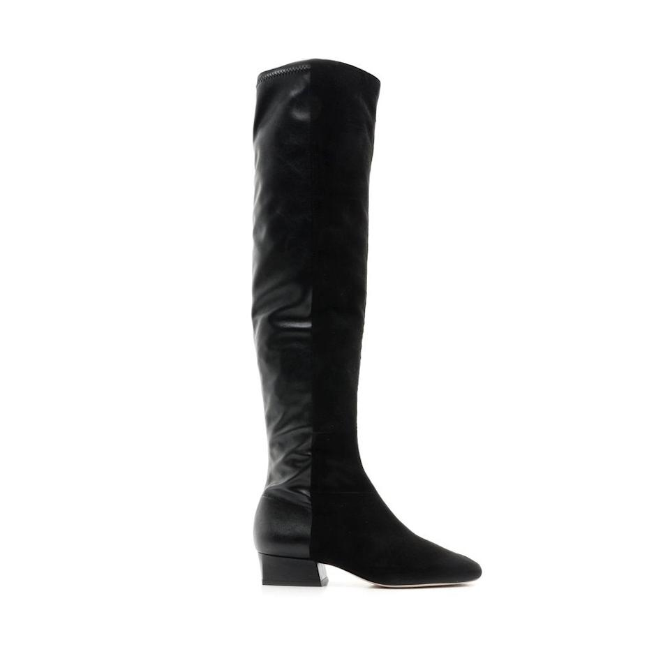 """<br><br><strong>Schutz</strong> Agane Boot, $, available at <a href=""""https://go.skimresources.com/?id=30283X879131&url=https%3A%2F%2Fschutz-shoes.com%2Fproducts%2Fagane-r20-boot-suede-leather"""" rel=""""nofollow noopener"""" target=""""_blank"""" data-ylk=""""slk:Schutz"""" class=""""link rapid-noclick-resp"""">Schutz</a>"""