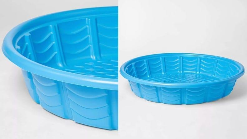 Kick it old-school with this affordable plastic kiddie pool.