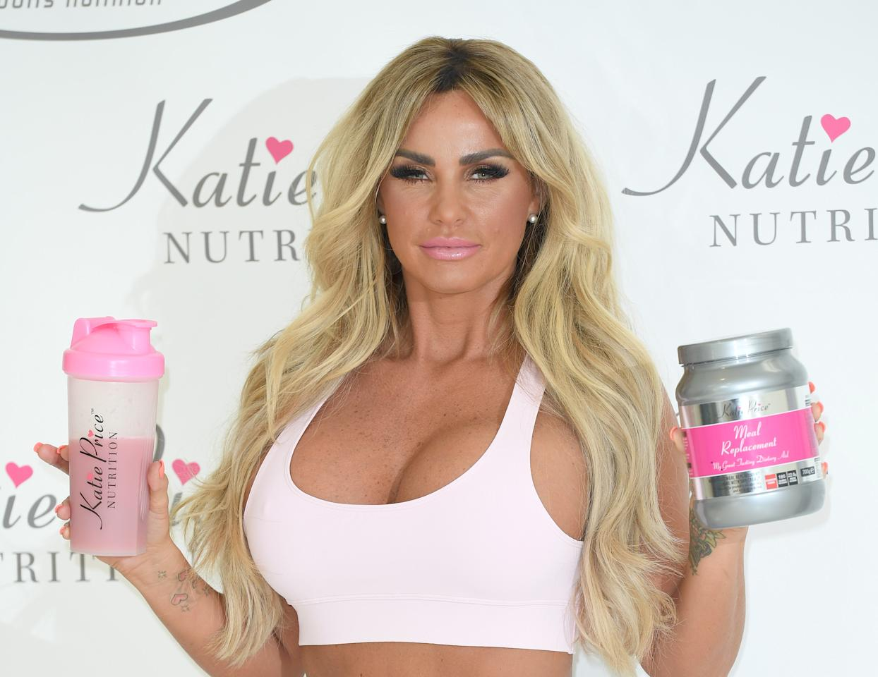 """<p>Earlier this year, Katie Price released a diet range of meal replacement shakes. The drinks reportedly decrease the need to snack and support the maintenance and toning of muscles. The BDA have warned that rapid weight loss is not sustainable and that fads such as these are not a healthy way to lose weight. Sarah Coe from the British Nutrition Foundation added: """"Meal replacement products can be useful for people that have a lot of weight to lose, but should always be used under supervision from a health professional."""" <i>[Photo: Getty]</i> </p>"""