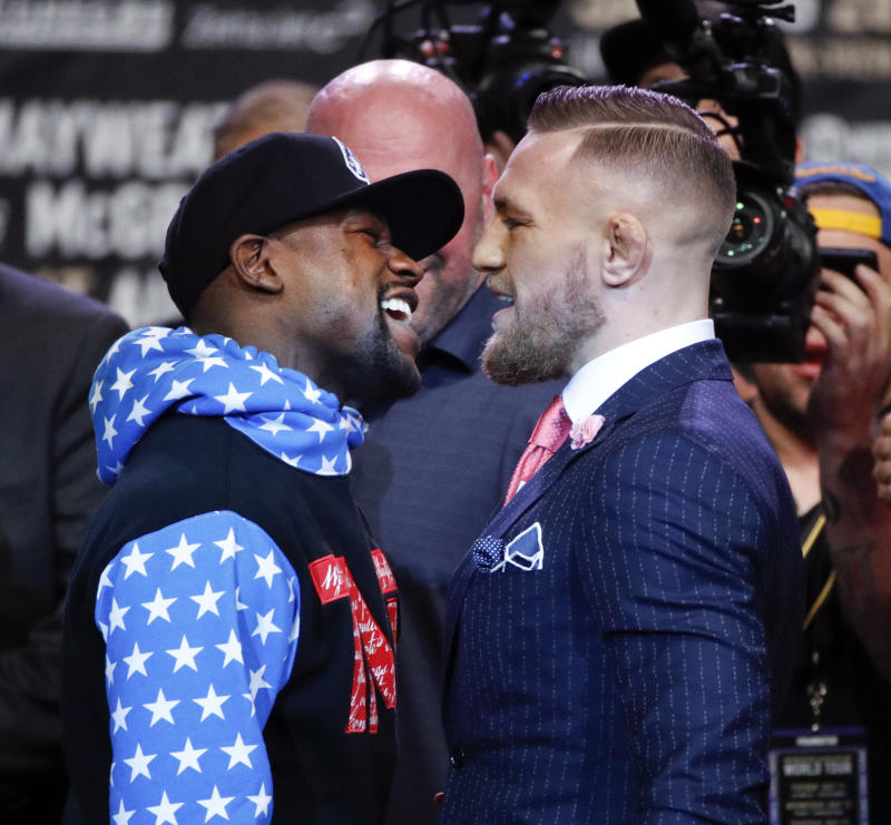 Watch Conor McGregor and Floyd Mayweather's third press conference live stream
