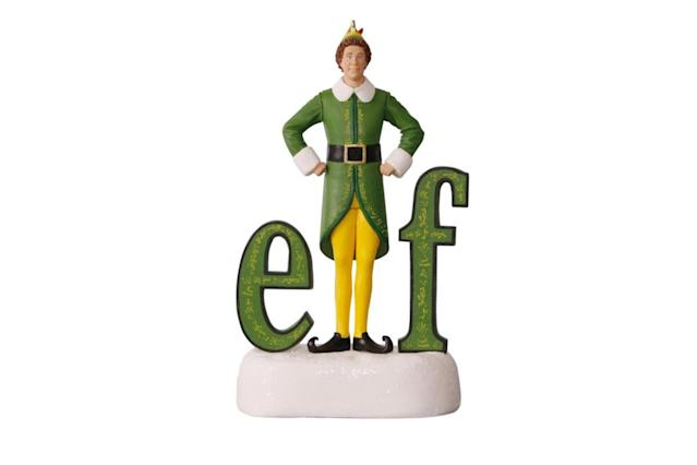 "<p>As Buddy says, ""The best way to spread Christmas Cheer, is singing loud for all to hear,"" and this figurine does just that by playing audio clips from the movie. Smiling will be your favorite, too, all season long. <a href=""https://www.hallmark.com/ornaments/keepsake-ornaments/buddy-the-elf-sound-ornament-1795QXI2422.html"" rel=""nofollow noopener"" target=""_blank"" data-ylk=""slk:Buy here"" class=""link rapid-noclick-resp""><strong>Buy here</strong></a> </p>"