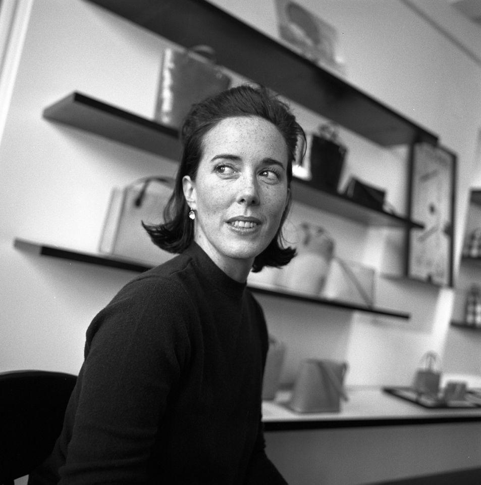 Handbag designer Kate Spade at her New York showroom in 2000 (Photo: Thomas Iannaccone/Penske Media/Rex/Shutterstock)