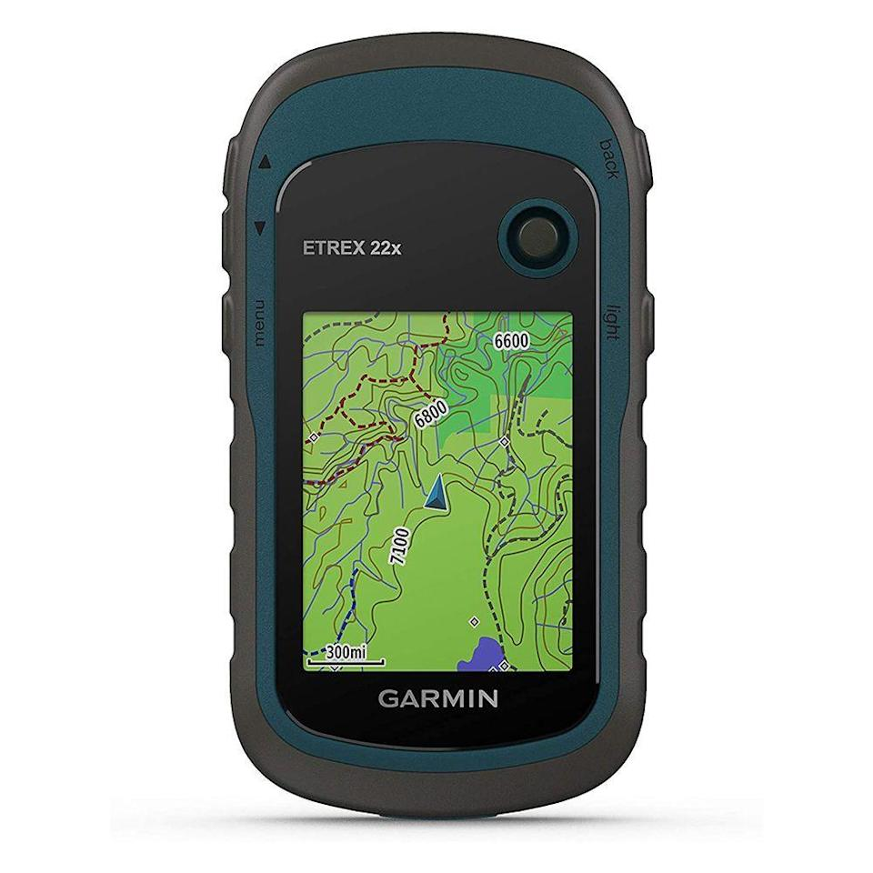 """<p><strong>Garmin</strong></p><p>amazon.com</p><p><strong>$199.99</strong></p><p><a href=""""https://www.amazon.com/dp/B07RTD2PMT?tag=syn-yahoo-20&ascsubtag=%5Bartid%7C2141.g.32869392%5Bsrc%7Cyahoo-us"""" rel=""""nofollow noopener"""" target=""""_blank"""" data-ylk=""""slk:Shop Now"""" class=""""link rapid-noclick-resp"""">Shop Now</a></p><p>Want something a little more interactive? This handheld GPS device from Garmin is preloaded with their own topoactive maps, displaying routes to help map out hiking trails beforehand and keep you on the path. Working alongside GPS and satellite operated GLONASS navigation, this provides tracking information that's both easy to follow and accurate. It also has a barometric altimeter and a compass, which comes in handy in case you get sidetracked. </p>"""