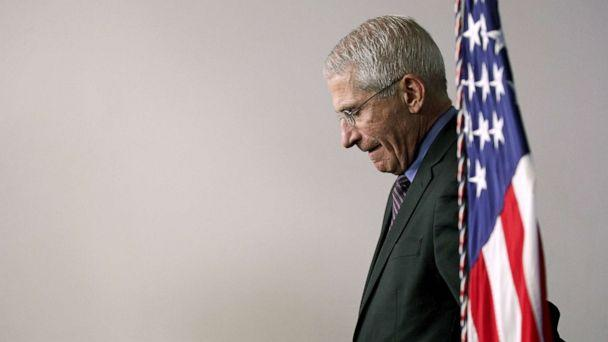 PHOTO: National Institute of Allergy and Infectious Diseases Director Anthony Fauci attends the daily coronavirus briefing in the Brady Press Briefing Room at the White House on April 9, 2020. (Alex Wong/Getty Images)