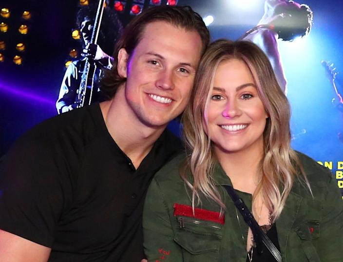 Andrew East and Shawn Johnson recorded a second video on