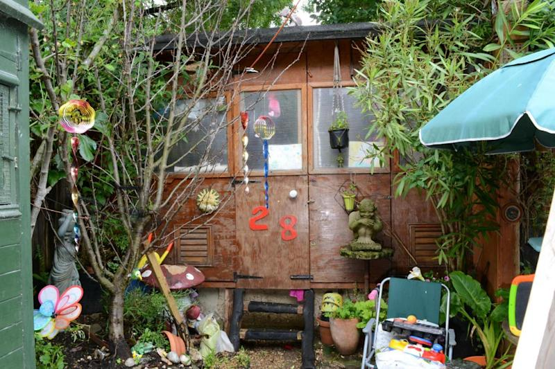 The shed in Gayle's Hendon home