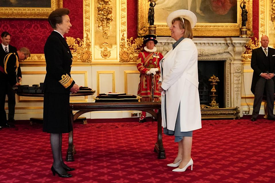 Alison Saunders is made a Dame Commander of the Order of the Bath by the Princess Royal (PA) (PA Media)
