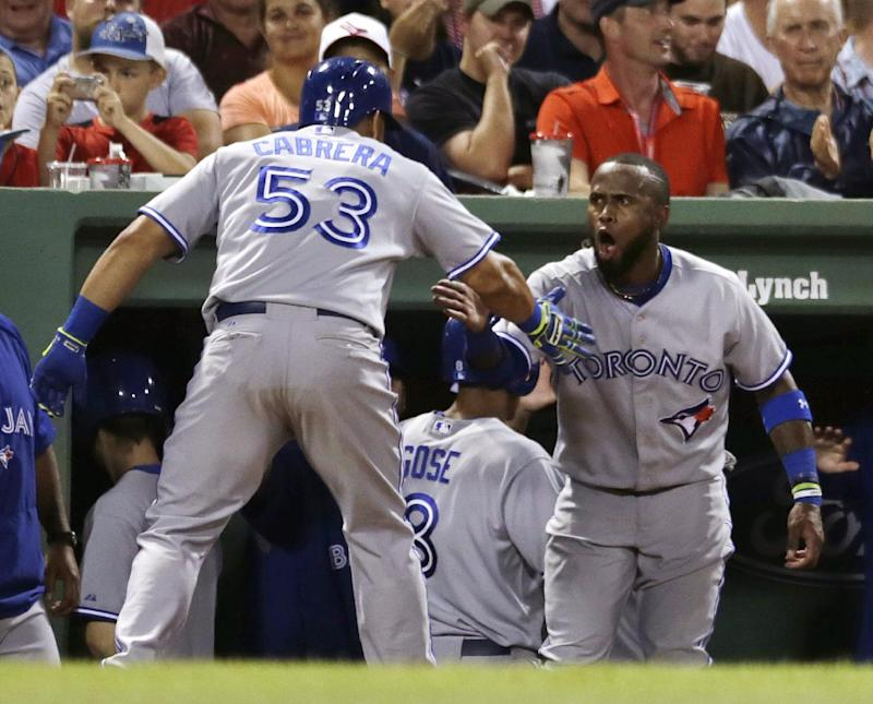 Cabrera, Dickey lead Blue Jays over Red Sox 14-1