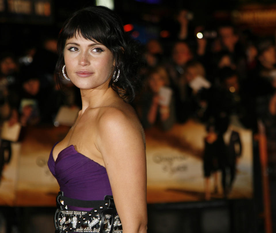"Gemma Arterton (pictured at the Quantum of Solace premiere in 2008) says she's come to see that ""there's so much wrong"" with how the women in James Bond films are portrayed. (Photo: REUTERS/Luke Macgregor)"