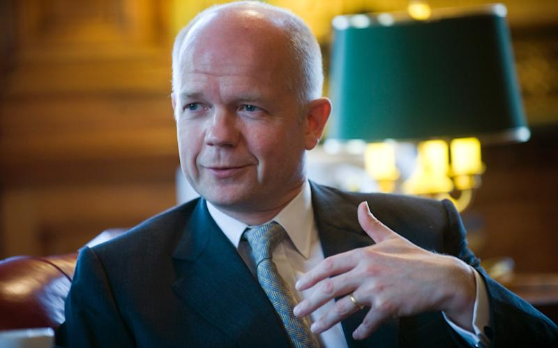 William Hague wants an early election - Paul Grover for The Telegraph