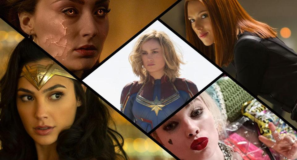 From Captain Marvel to Wonder Woman… the female-fronted superhero movies are here to stay (Disney/Fox/WB)