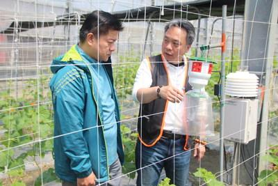 Tano Security CEO Robert Chen (right) and Lan-Yang Agricultural Development Foundation Deputy CEO Elmo Hsu (left)