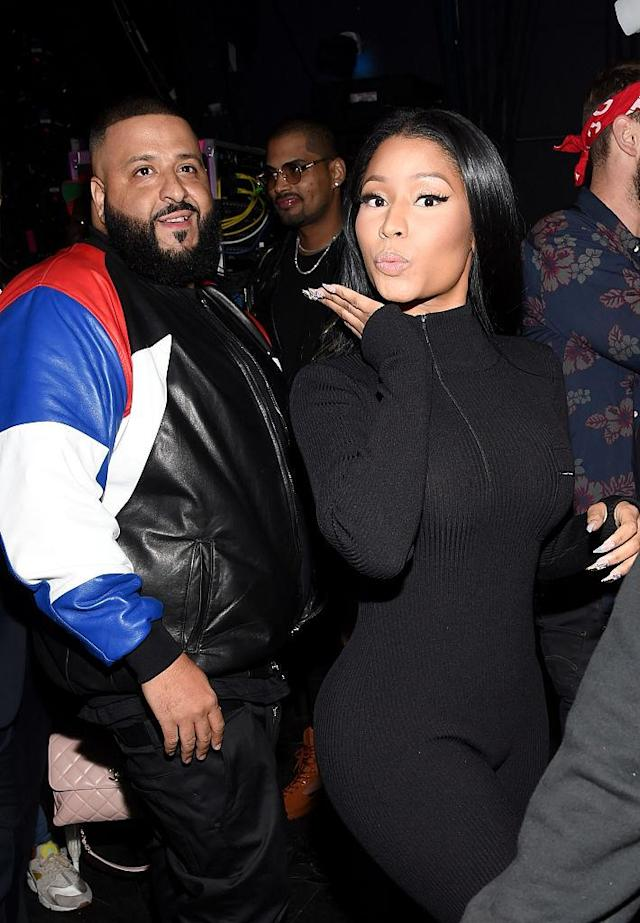 DJ Khaled and Nicki Minaj appear together at the 2016 American Music Awards on Nov. 20, 2016. (Photo: Frazer Harrison/AMA2016/Getty Images for dcp)