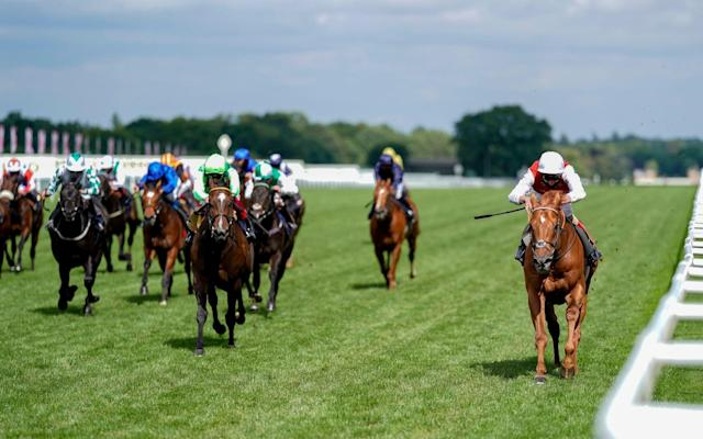 Golden Horde (far right) streaked home under Adam Kirby - GETTY IMAGES