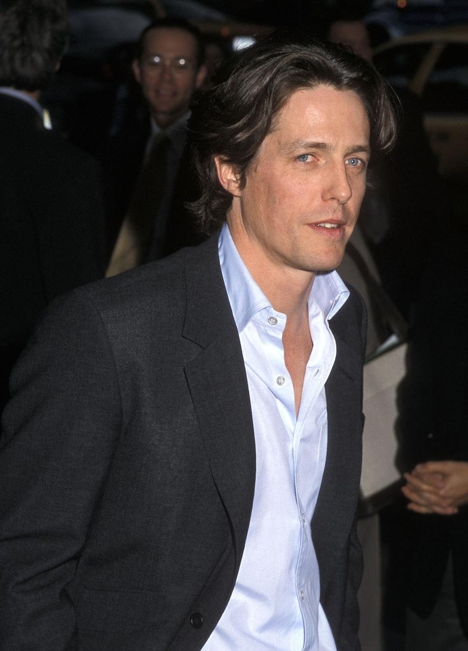 """Actor Hugh Grant attends the """"Small Time Crooks"""" New York City Premiere on May 16, 2000 at the Beekman Theater in New York City. (Photo by Ron Galella/Ron Galella Collection via Getty Images)"""