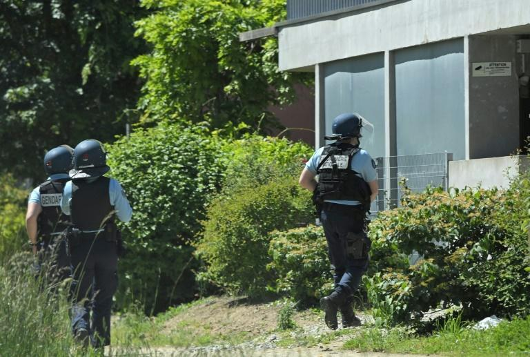 Some 80 police joined the hunt for the attacker