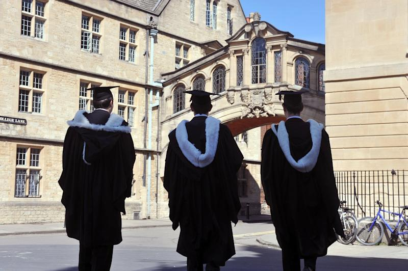 We should no longer have a bogus target for young people to go to university, which was famously set by Tony Blair's government at 50 per cent of the age group: Getty