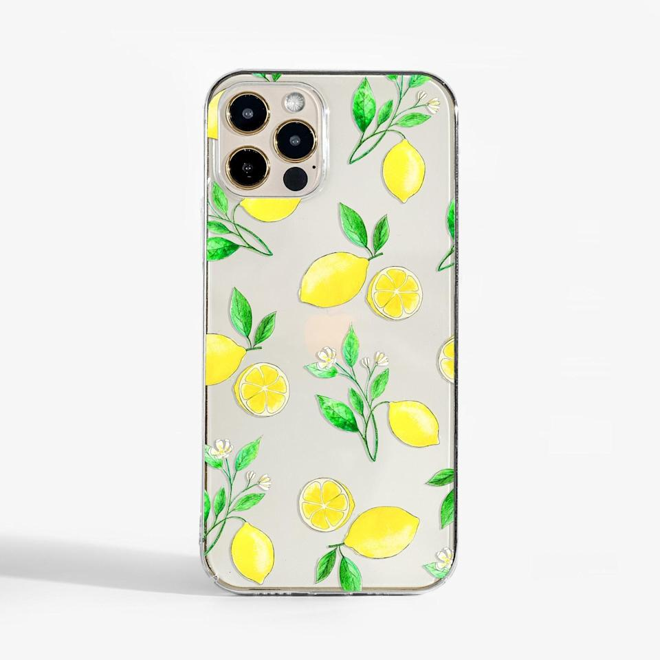 <p>Add a pop of color and vibrance with this <span>Clear Lemons Phone Case</span> ($20).</p>