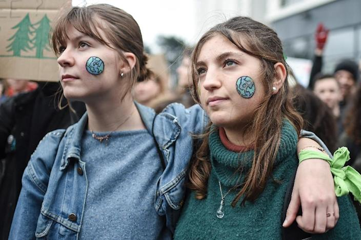 In France, tens of thousands joined the youth strike, with up to 40,000 in Paris alone, police said (AFP Photo/Sebastien SALOM-GOMIS)