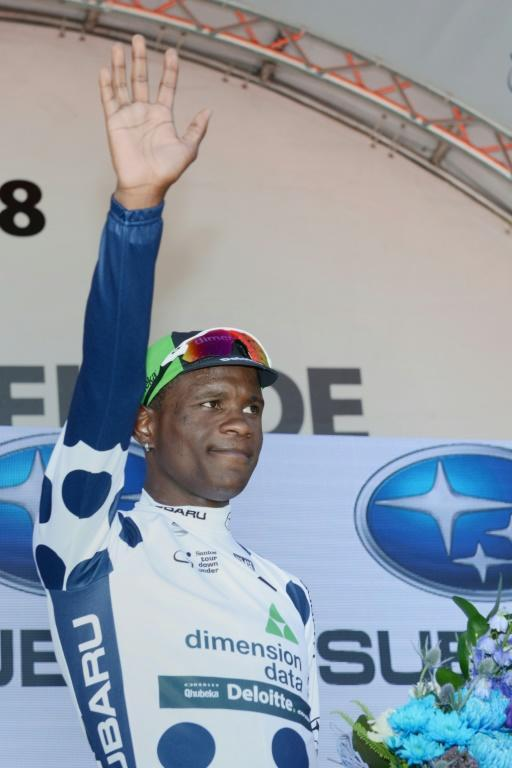 """South Africa's Nicholas Dlamini, who competed for Team Dimension Data at the 2018 Tour Down Under, says if he can make a name for himself it will prove to young people back home that """"anything is possible"""""""