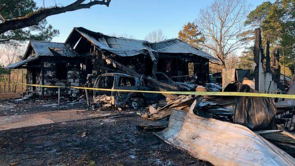PHOTO: This photo provided by WLBT-TV shows damage to a house after a fatal fire in Clinton, Miss., Feb. 8, 2020. (Reggi Marion/WLBT-TV via AP)