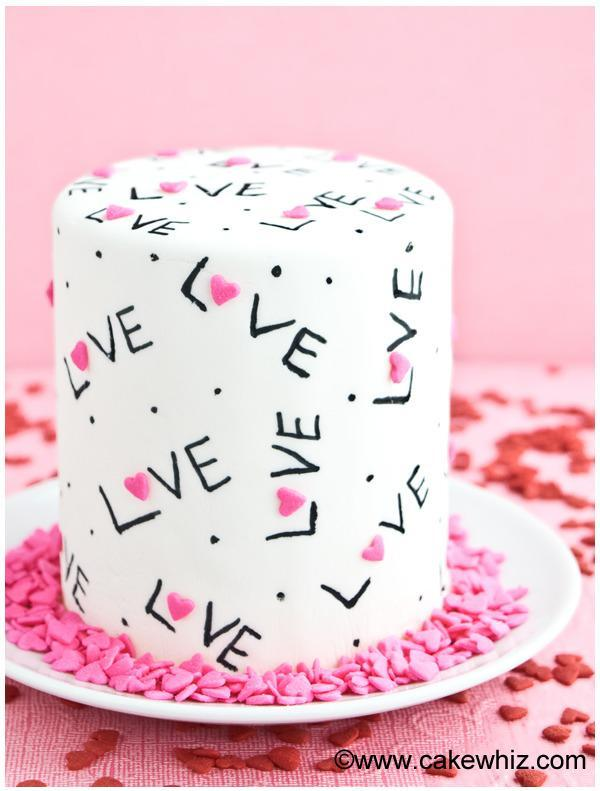 """<p>We love the idea of getting out the icing pen and doodling all over an iced cake. Great fun. <i>[Photo: <a href=""""http://cakewhiz.com/easy-love-cake/"""" rel=""""nofollow noopener"""" target=""""_blank"""" data-ylk=""""slk:Cake Whiz"""" class=""""link rapid-noclick-resp"""">Cake Whiz</a>]</i></p>"""