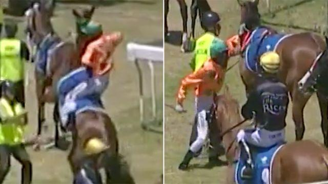 The shocking moment. Image: Channel 7