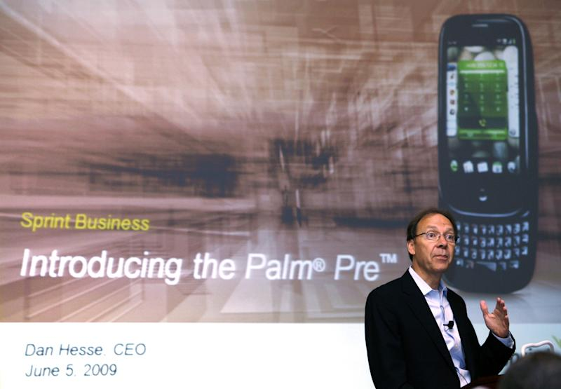Dan Hesse, former CEO of Sprint Nextel Corp., speaks during a news conference announcing the launch of the Palm Pre smartphone in New York June 5, 2009. REUTERS/Shannon Stapleton