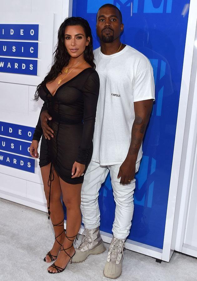Kimye's surrogate is 'three months along'. Source: Getty