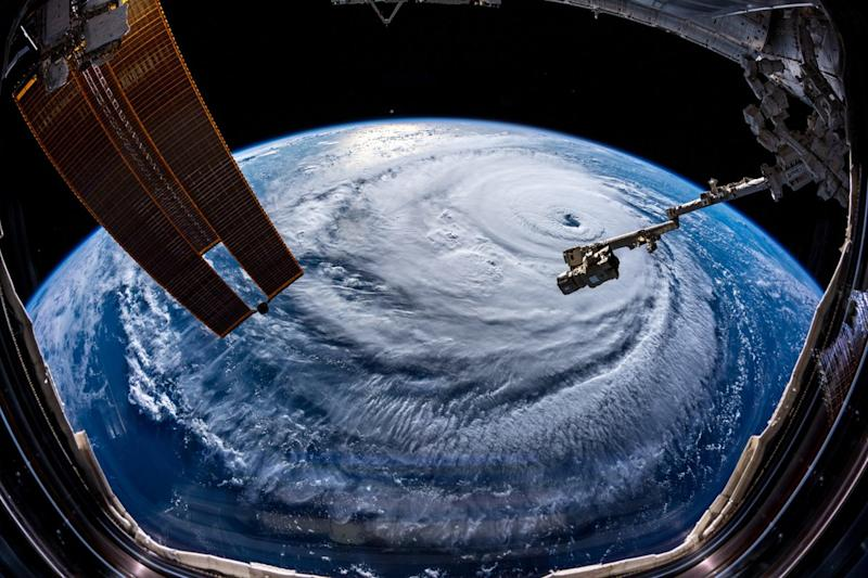 Astronaut takes photo showing power of Hurricane Florence from space