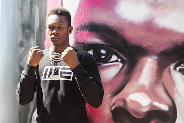 UFC interim middleweight champion Israel Adesanya during a media opportunity ahead of UFC 243 at Marvel Stadium on Oct. 1, 2019 in Melbourne, Australia. (Asanka Ratnayake/Getty Images)