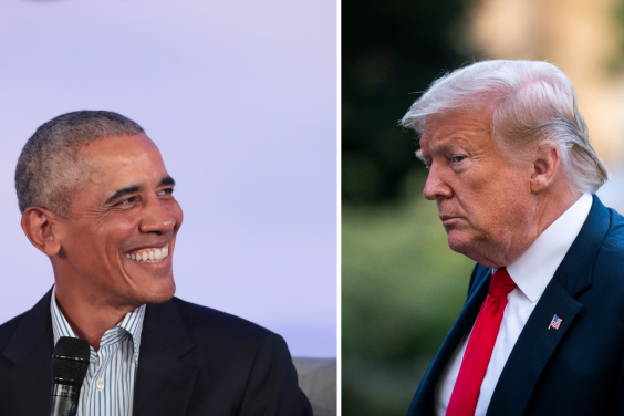 Barack Obama's witty self-deprecation is not a characteristic shared by Donald Trump (Getty Images)