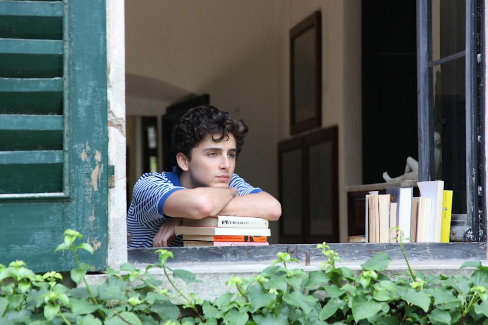 "This image released by Sony Pictures Classics shows Timothée Chalamet in a scene from ""Call Me By Your Name."" (Sony Pictures Classics via AP)"