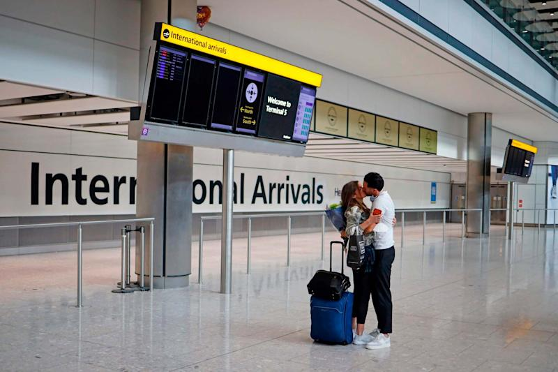 Most travellers arriving in Britain will face 14 days in quarantine from tomorrow - anyone breaking the rules faces a fine or prosecution: AFP via Getty Images