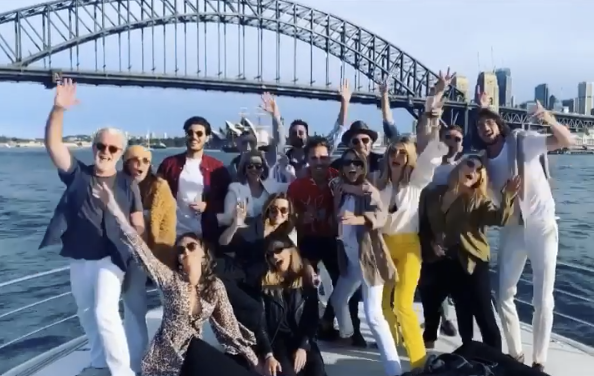 Last year, Delta angered fans when she showed herself with friends celebrating Australia Day. Photo: Instagram/Delta Goodrem
