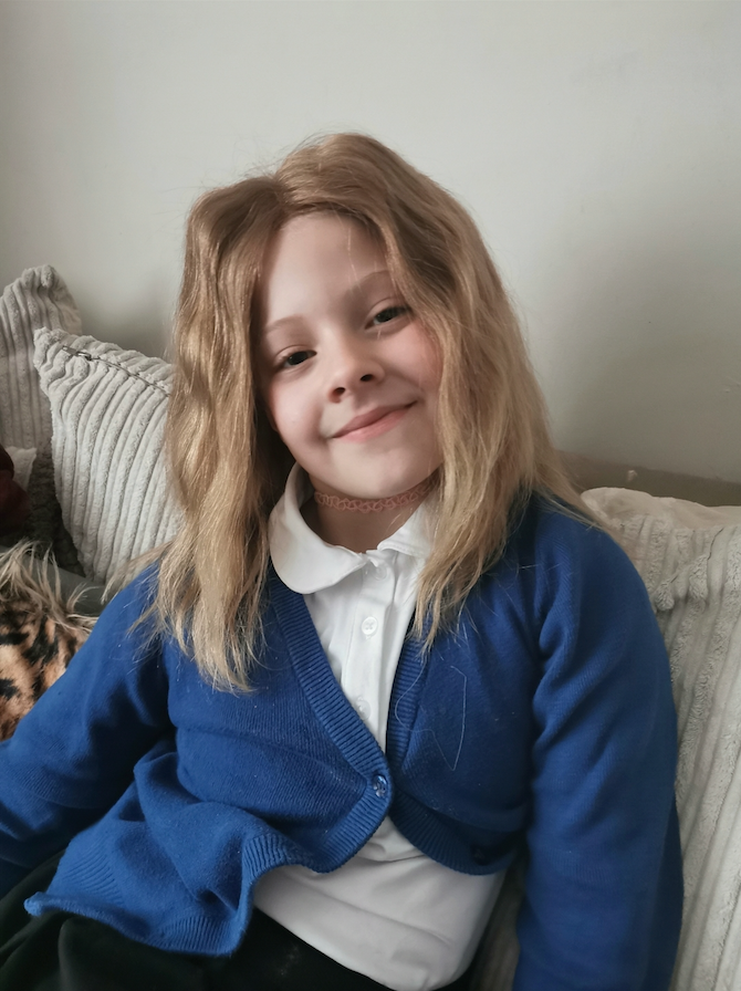 Charity The Little Princess Trust created a wig for Isla, which has boosted her confidence. (Megan George)