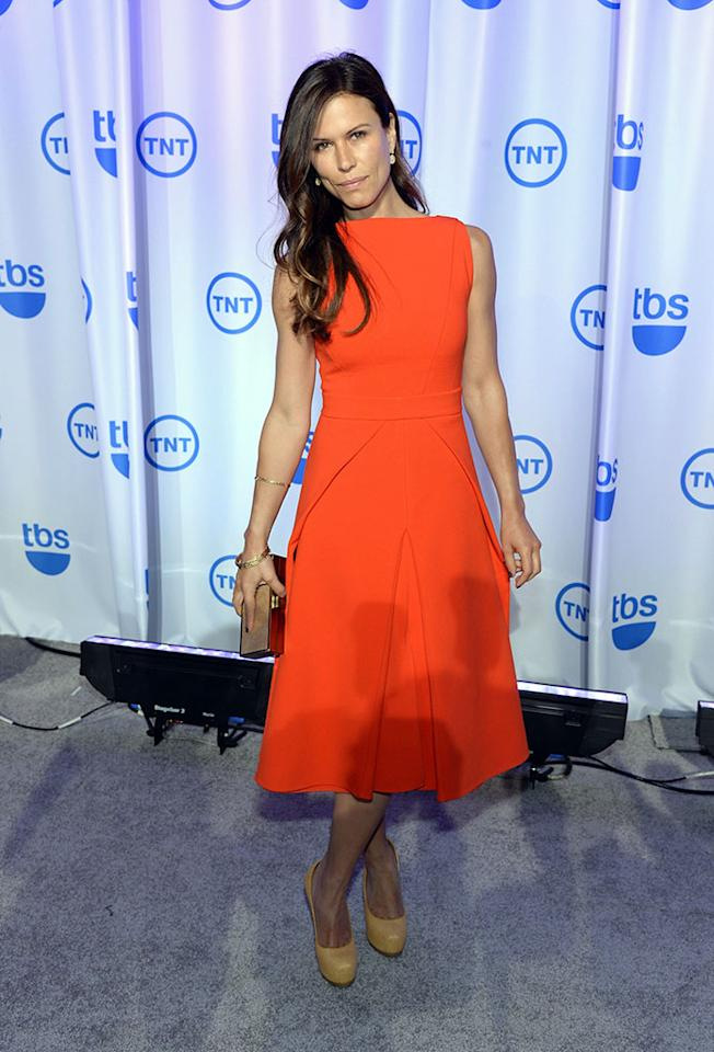 "Rhona Mitra (""The Last Ship"") attends the 2013 TNT/TBS Upfront at Hammerstein Ballroom on May 15, 2013 in New York City.  23562_001_0332.JPG  (Photo by Dimitrios Kambouris/WireImage for Turner)"
