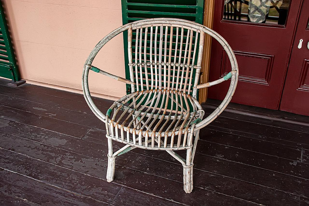 <p>Wicker chairs are a cute addition to any space, and you can easily remove that squeaky sound they all have with a quick spray of WD-40.</p>