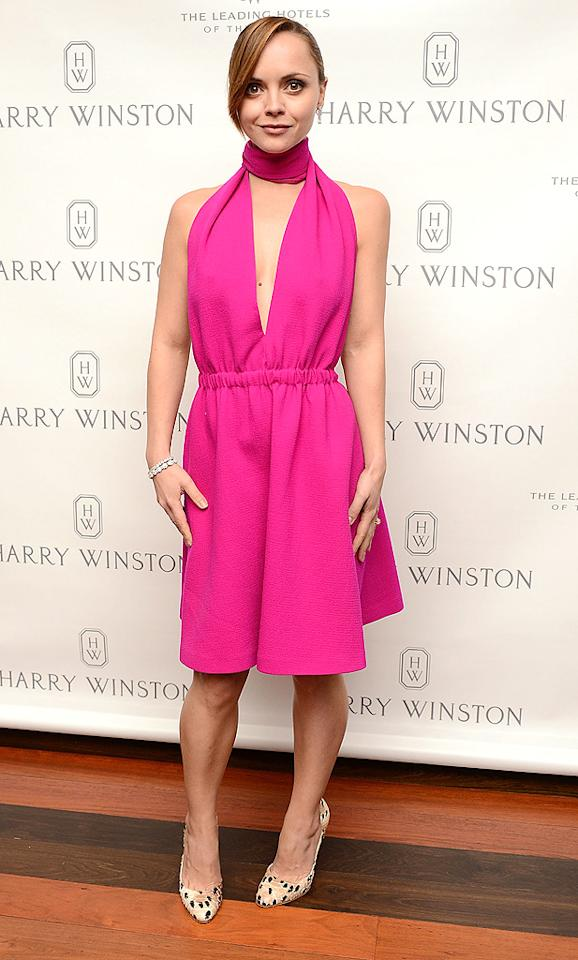 NEW YORK, NY - OCTOBER 22:  Actress Christina Ricci attends the Harry Winston dinner for Jessica Chastain at The Leading Hotels of the World's Setai on October 22, 2012 in New York City.  (Photo by Andrew H. Walker/WireImage)