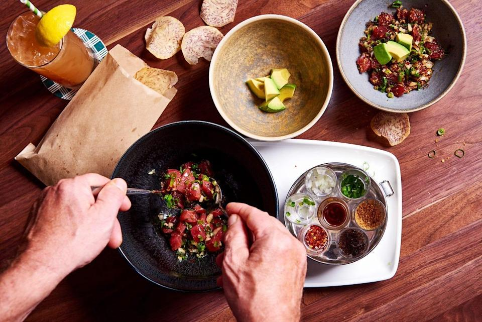 Table preparations came back surprisingly quickly from pandemic closures, like the signature hand-served poke served at the four Merriman & # x002019; s restaurants in Hawaii.