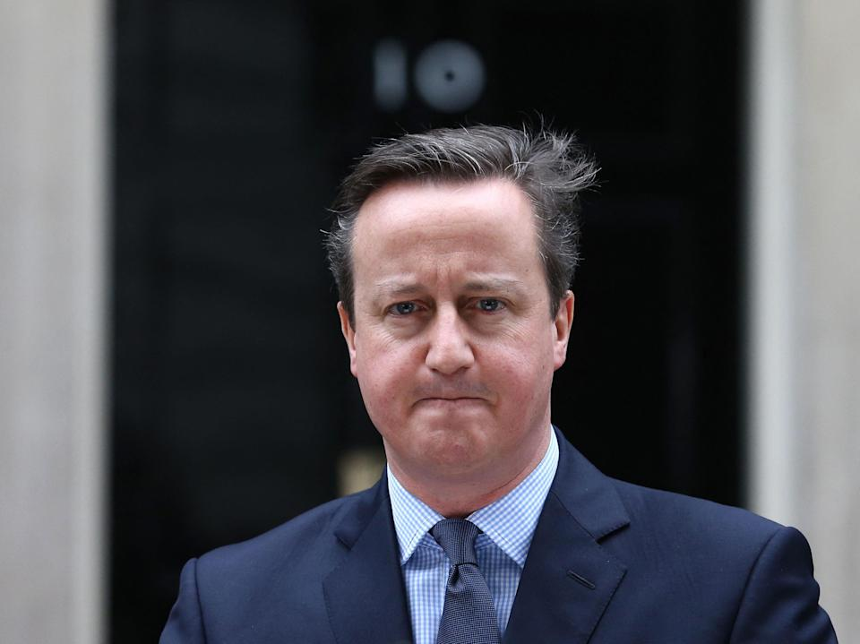 Former prime minister David Cameron has 'welcomed' an inquiry into his lobbying activities on behalf of collapsed financial firm Greensill Capital (AFP via Getty Images)