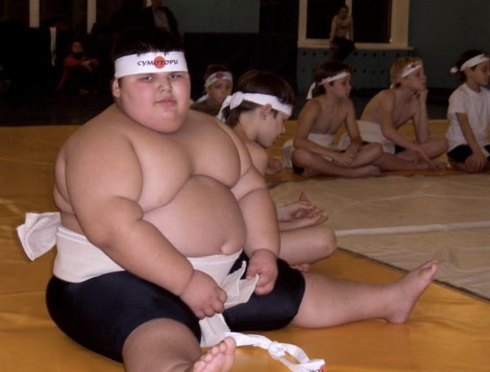 The boy was dubbed the first sumo wrestler of the Kabardino-Balkarian Republic.