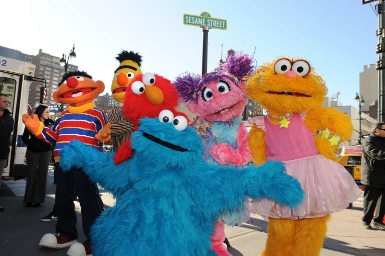 Sesame Street characters (L-R) Ernie, Bert, Elmo, Abby Cadabby, Zoe and Cookie Monster (front) are all part of the gang (AFP Photo/STAN HONDA)