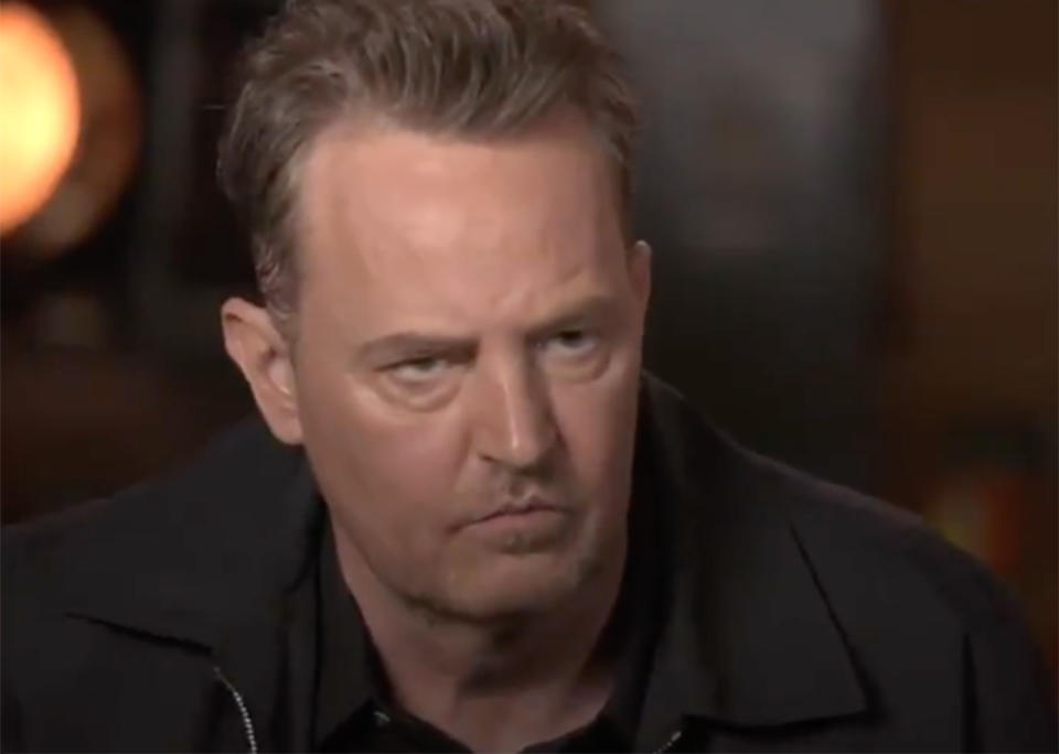 Matthew Perry in the trailer for the Friends reunion special