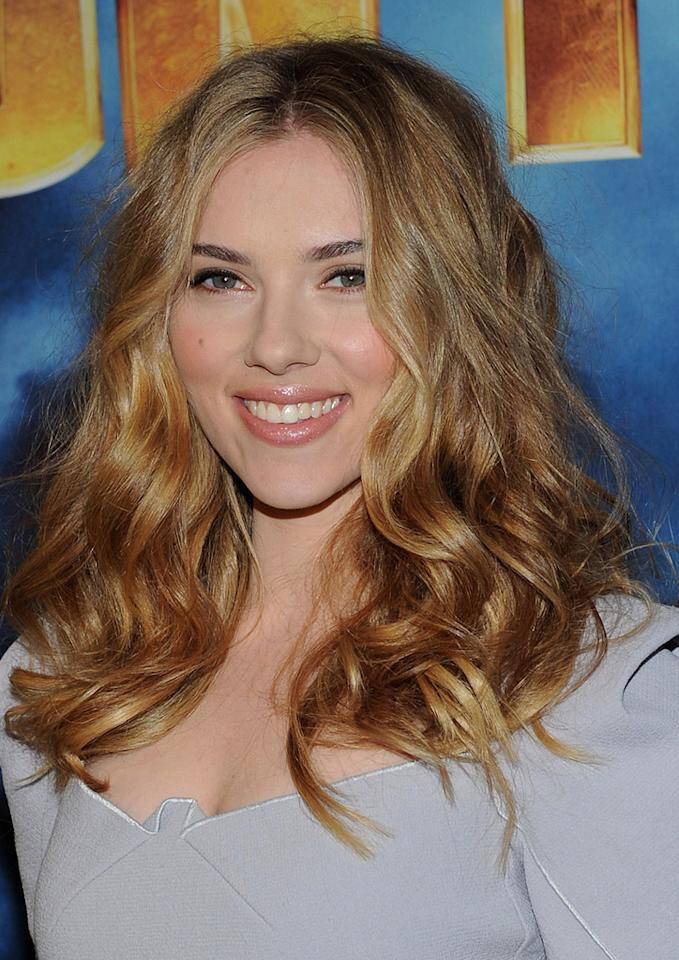 """<a href=""""http://movies.yahoo.com/movie/contributor/1800022348"""">Scarlett Johansson</a> poses during Paramount Pictures & Marvel Entertainment's <a href=""""http://movies.yahoo.com/movie/1810026429/info"""">Iron Man 2</a> photo call held at the Four Seasons Hotel on April 23, 2010 in Los Angeles, California."""